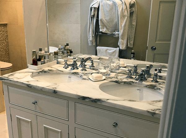Custom bathroom countertop