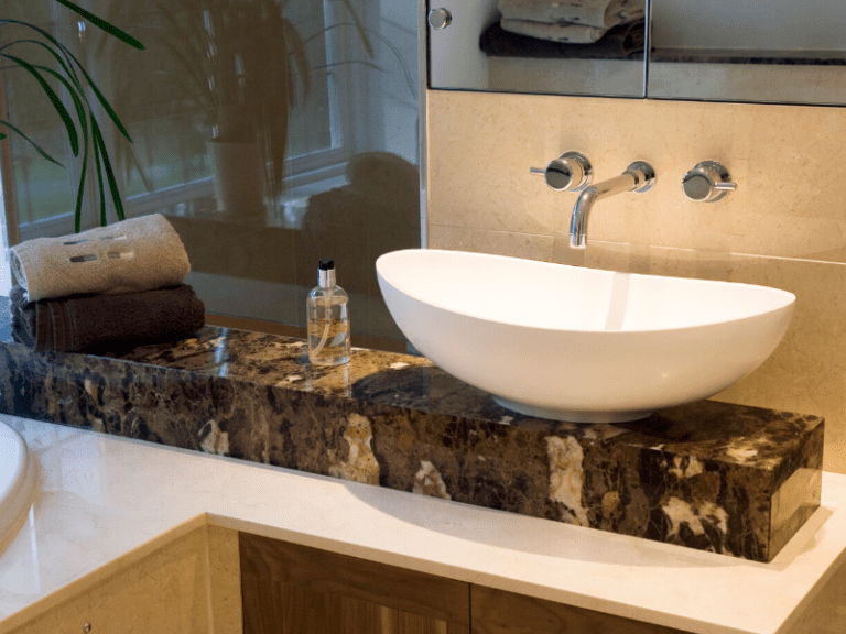 Marble bathroom counters