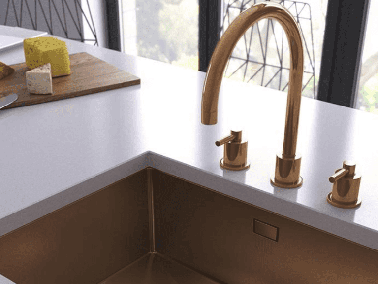 Gold 1810 sink and tap