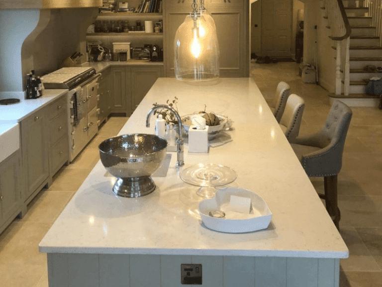 Kitchen island stone worktop