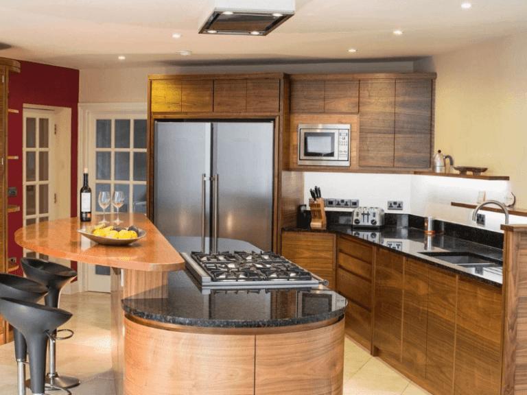 Bespoke black kitchen worktop
