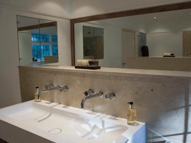 bespoke bathroom worktop