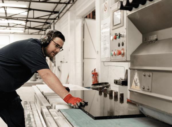 The custom worktop process
